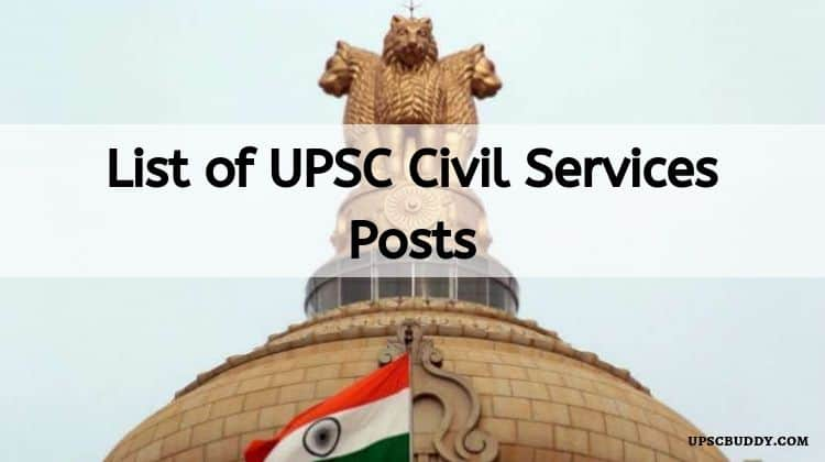 List of UPSC Civil Services Posts